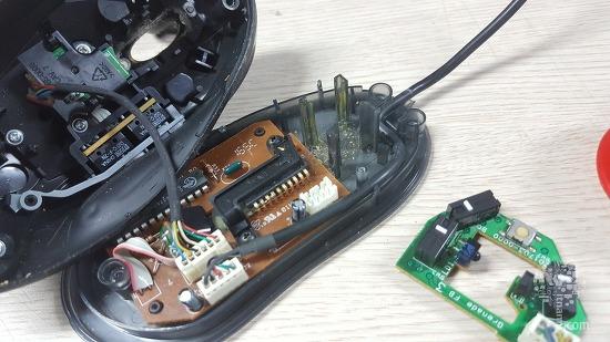고장난 마우스 자가수리 로지텍 MX518 스위치 교체