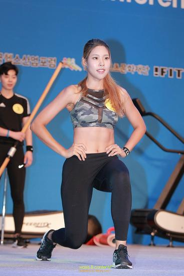 2017 미스 피트니스 코리아 선발대회 2번 송리라 선수 선호운동시범 세계 다이어트 엑스포 코엑스
