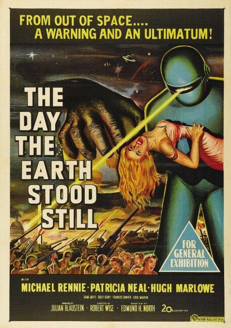 지구 최후의 날(The Day The Earth Stood Still, 1951)... 로버트 와이즈, 마이클 레니... 명작 고전 SF 영화 추천 지구 최후의 날 다시보기