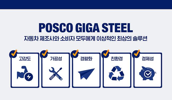 [인포그래픽] 포스코 기가스틸의 5가지 특장점 한눈에 보기