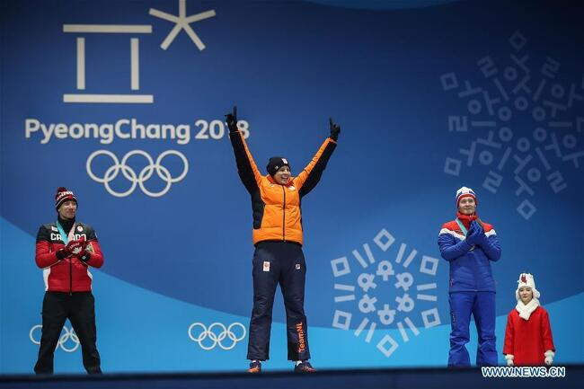 180211 평창올림픽 스벤 크라머 스피드 스케이팅 5000m 금메달