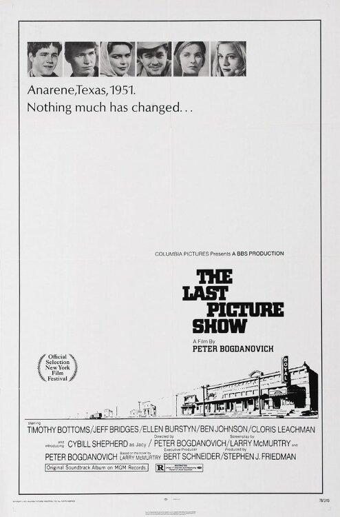 라스트 픽쳐 쇼(The Last Picture Show)... 피터 보그다노비치, 티모시 바톰즈, 시빌 셰퍼드, 제프 브리지스... 스산한 성장영화 마지막 영화관
