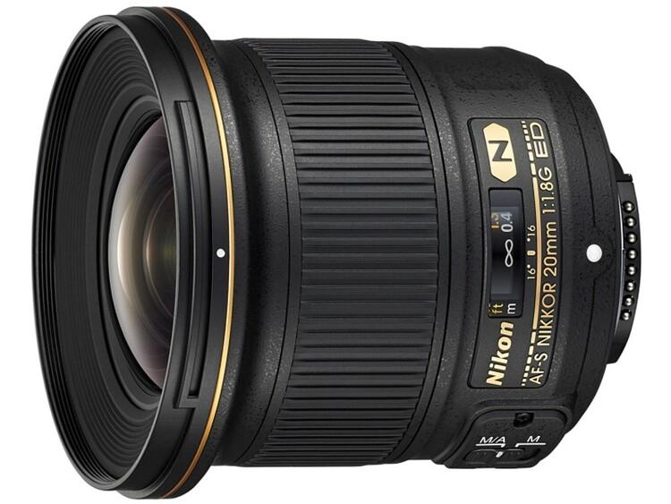니콘 신형 N렌즈 AF-S NIKKOR 20mm f/1.8G ED 광각 단렌즈