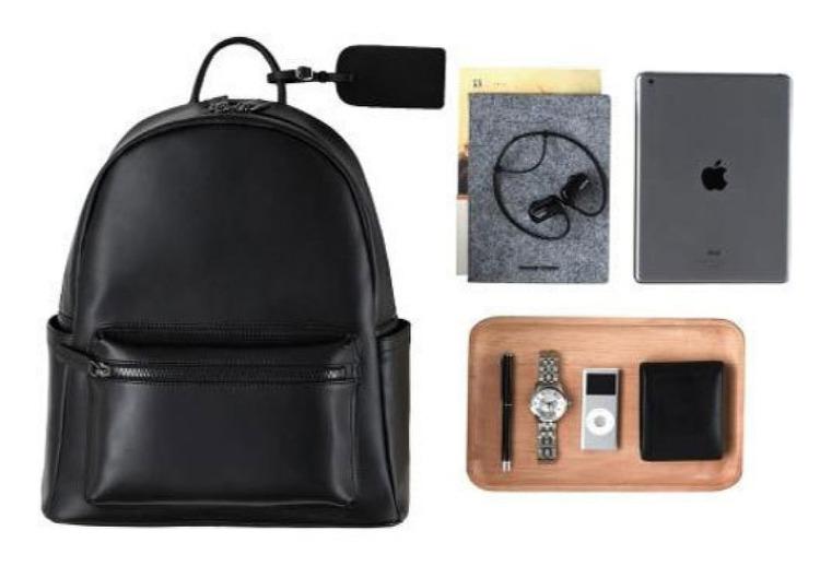 moinsde 가죽가방 노트북 및 정장 배낭가방