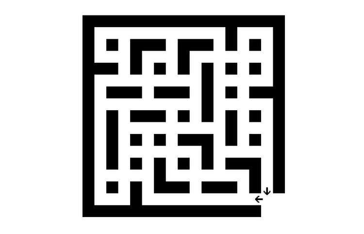 No Turn Left Maze