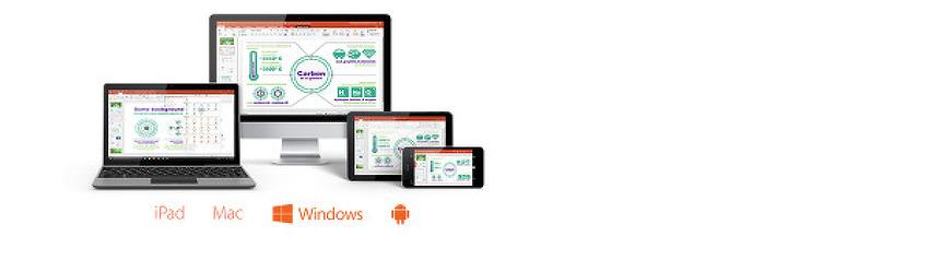 모든 기기에서 어디서든 사용할 수 있는 Office 365(2016 버전의 Word, Excel, PowerPoint 등이 포함)