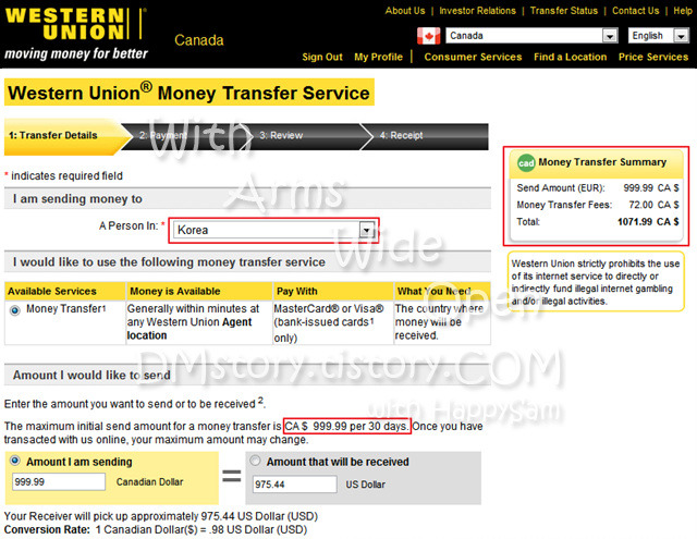 1. Western Union also makes money from currency exchange. When choosing a money transmitter, carefully compare both transfer fees and exchange rates.