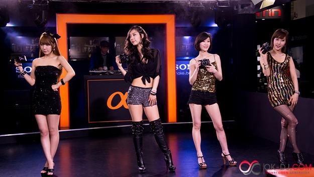 2012 P&I 서울국제영상기자재전 소니 부스 모델들
