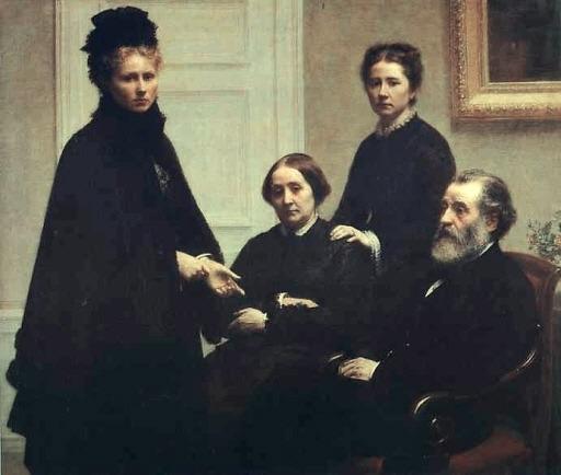 앙리 팡탱-라투르, 뒤부르 가족