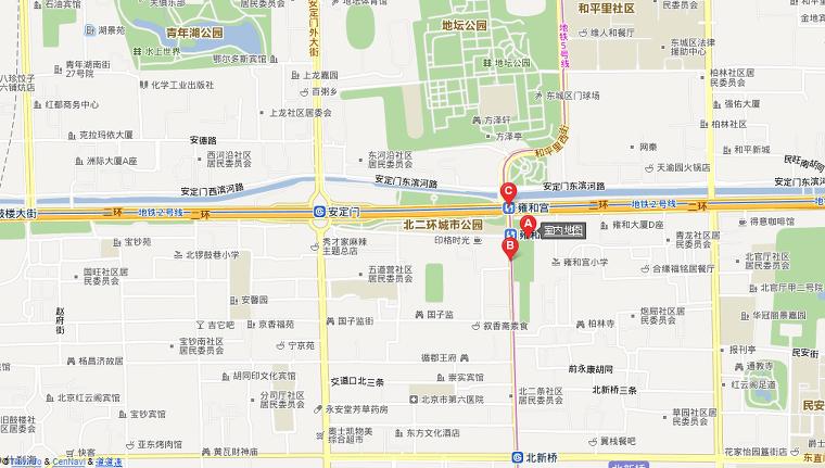 용화궁(雍和宫) 지도 교통정보
