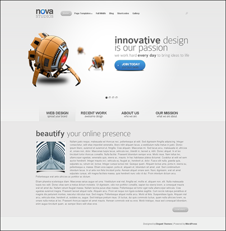 NOVA Elegant Cool WordPress Theme
