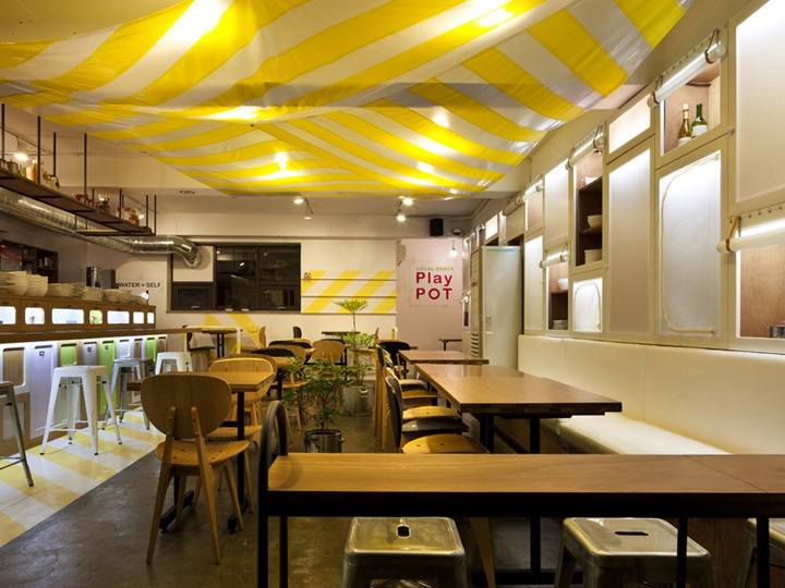 Interior exhibition vmd play pot restaurant by lim tae