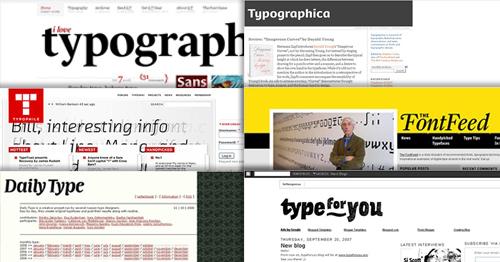 최고의 타이포그래피 블로그