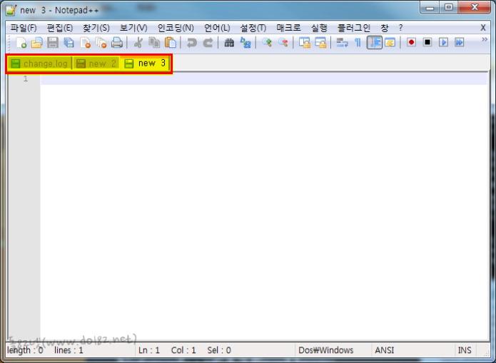 Notepad++(노트패드++) v.6.1.2 탭메뉴