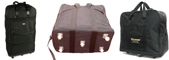 천으로 된 3단 확장 이민 가방은 피하는 게 좋아..