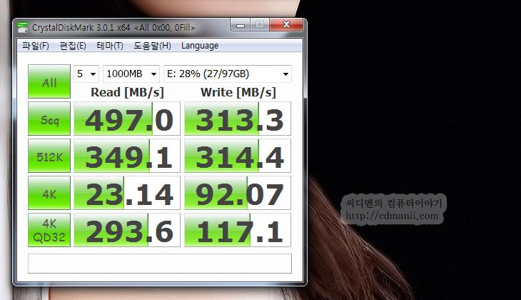인텔 SSD 520 Series 120GB, 인텔 SSD, 샌드포스, SandForce, 벤치마크, 크리스탈 디스크 마크, AS SSD, 랜덤, 0 Fill, 1 Fill, 성능, 가격, 인텔, Intel, 칩셋, 컨트롤러, 제어, 0x00, 0xFF, 읽기, 쓰기, 벤치, 삼성, 삼성 SSD,인텔 SSD 520 Series 120GB 벤치마크를 통해서 이 제품이 가지고 있는 샌드포스 컨트롤러의 특징을 설명드리고 실제 사용시 느끼는 체감등을 설명드릴까 합니다. 사실 벤치마크는 수치로 객관화된 수치를 보여주지만 실제 체감은 좀 다를 수 도 있습니다. 비슷한 예로 오버클러킹을 들 수 있는데 오버클러킹도 기존 클럭에 1.5배 차이가 나지 않으면 사실 체감으로 빠르다는 느낌을 받기 힘듭니다. 이렇게 먼저 이야기를 하고 시작하는 이유라면 인텔 SSD 520 Series 경우 샌드포스 칩셋을 사용하였기에 0 fill 또는 1 Fill 에서 테스트하지 않으면 박스에 표기된 그 스펙의 전송속도가 안나오기 때문입니다. 벤치마크를 통한 성능차이를 설명드리고 실제 사용시에는 이것보다 더 중요한것이 있다는점을 설명드릴려고 합니다. 이것은 아래에서 자세히 설명을 드리죠.