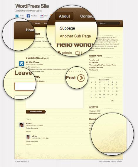 아이폰 앱스 스타일 Notepad Theme