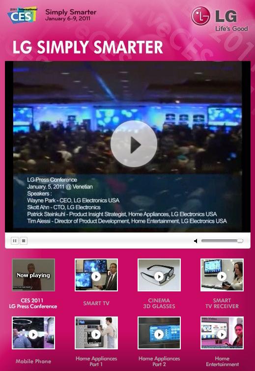 LG전자 페이스북, CES Live 탭