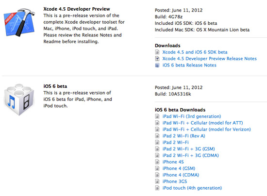 iOS6 Download and install 2