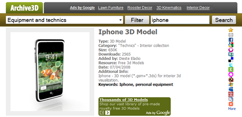 216만 3D Model 무료 다운로드 Archive3D