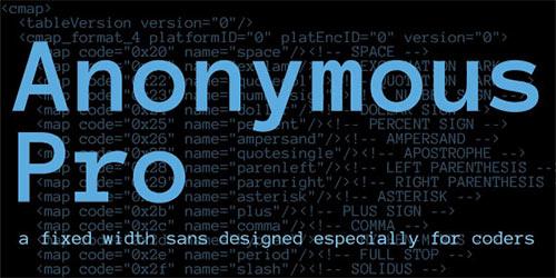 무료폰트, Anonymous Pro