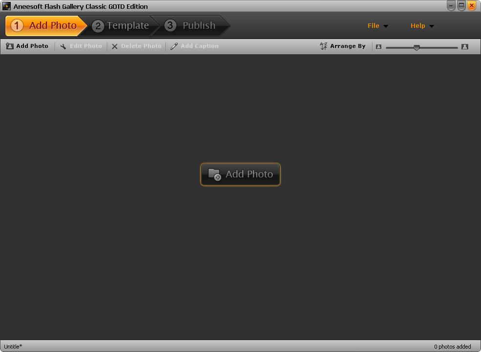 설치한 뒤 첫 실행 화면 1 - 메인 화면
