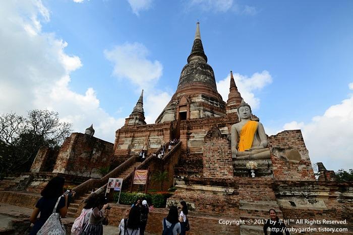 태국 여행 / 세계문화유산 고대도시 '아유타야' 1일 투어 / '왓 야이 차이 몽콘'