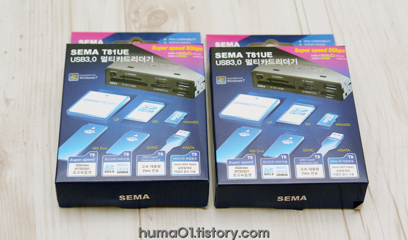 "SEMA 3.5"" 내장형 USB3.0 멀티리더기"