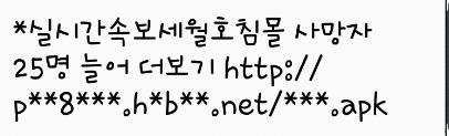 세월호, 스미싱문자,