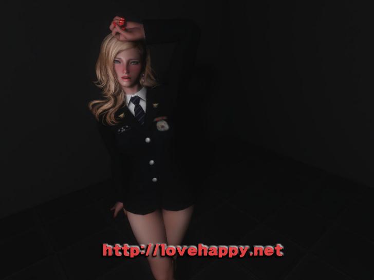 스카이림 여캐 - korea police suit 006