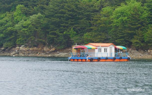 장사도(長蛇島)가는 아름다운 뱃길 풍경