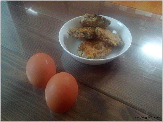 동그랑땡과 날 계란