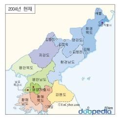 북한 지도, 함경도의 위치(출처: 두산백과)