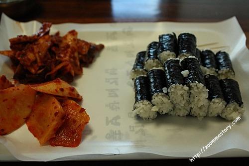 통영, 충무김밥, 2 인분, 맛집, 여행