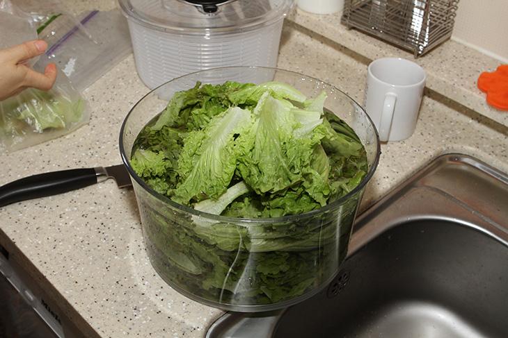 야채 탈수기 ,옥소, 샐러드 스피너, OXO Salad Spinner, 후기,IT,IT 제품리뷰,후기,사용기,리뷰,인테리어,샐러드,요리,야채 탈수기 옥소 샐러드 스피너 OXO Salad Spinner 후기를 올려봅니다. 와이프가 결혼전 부터 사용하던 다이소에서 구매한 저렴한 제품을 그동안 사용해왔었는데요. 손잡이를 잡고 손으로 돌리는 형태였기 때문에 좀 불편했었습니다. 그러던 중에 좀 좋은 것중 야채 탈수기 옥소 샐러드 스피너를 구매하게 되었습니다. 가격은 약간 있었지만 구매하고 보니 꽤 괜찮네요. 그전에 5000원 짜리 보다는 훨씬 좋았습니다. 손으로 누르기만 하면 자동으로 회전이 되면서 탈수가 되는 타입이라서 편하기도 합니다. 투명하고 깨끗한 형태로 되어있어서 보기에도 좋았구요. 크기도 꽤 크직해서 야채 탈수기로 놓고 사용하기도 좋더군요. 옥소 샐러드 스피너 하단 부분에는 미끄럼 방지틀이 있고 상단에 회전하는 것을 멈추는 버튼도 있고 해서 꽤 짜임새도 좋습니다.