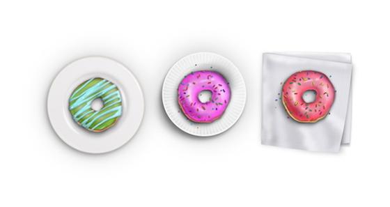 포토샵을 이용하여 사실적인 도넛을 그리는 방법