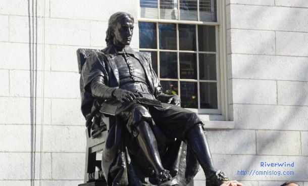 하버드 칼리지 설립자 존 하버드 동상
