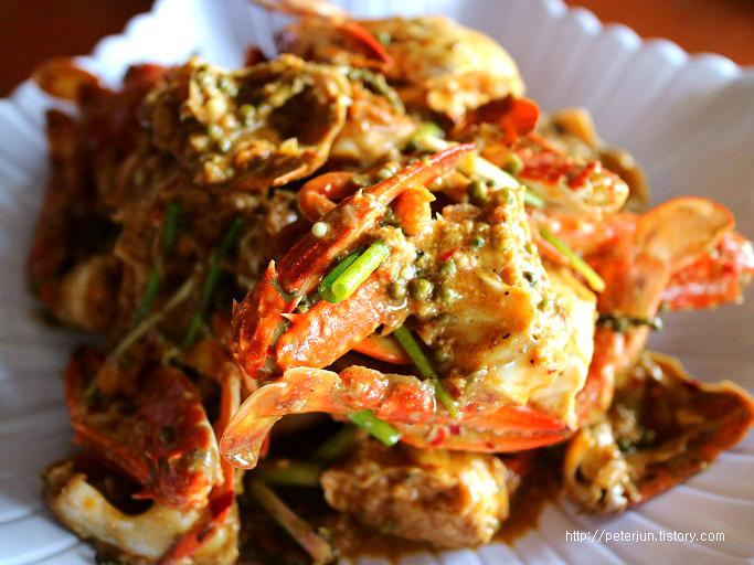 캄보디아 꽃게 요리