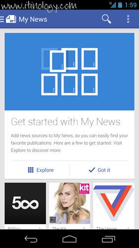 Google Play Newsstand My news