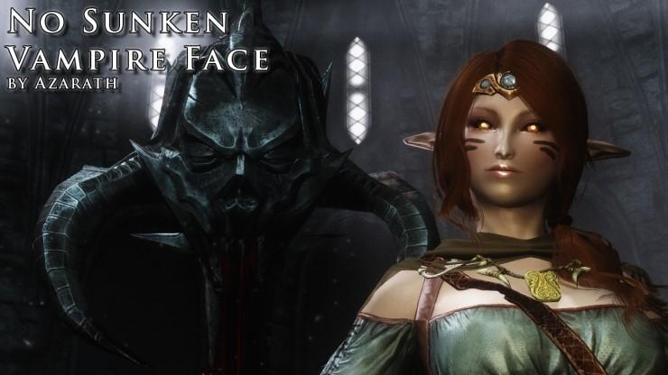 skyrim se vampire black face fix