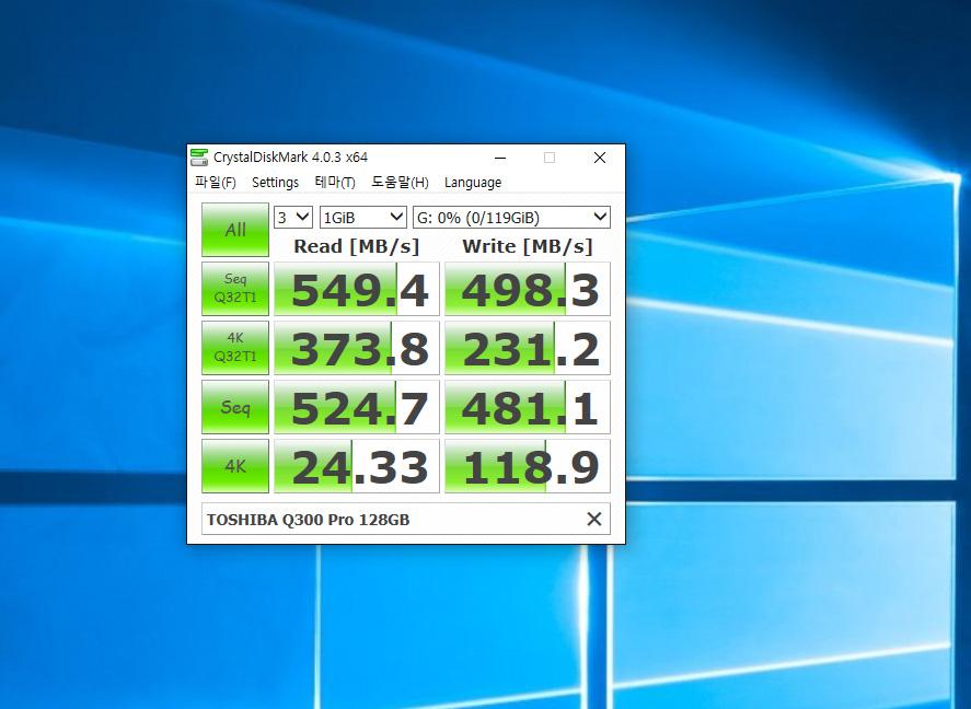 도시바 SSD, Q300 Pro, 128GB, 벤치마크,IT,IT 제품리뷰,도시바,toshiba,ssd,비교적 저렴한 비용으로 컴퓨터의 속도를 많이 높일 수 있습니다. 가장 낮은 속도를 내는 장치를 빠르게 해주면 되죠. 도시바 SSD Q300 Pro 128GB를 사용하면 HDD 에 비해서는 수십배 이상 빠르기 때문에 훨씬 빠른 체감을 할 수 있죠. 최근 추세가 HDD를 운영체제용으로 잘 안쓰죠. 도시바 SSD Q300 Pro 128GB 처럼 SSD를 운영체제용으로 많이 쓰는 추세 입니다. 과거에는 SSD의 수명등에 대한 이유로 처음 선택을 고민하는 분이 많았습니다. 하지만 가격이 많이 저렴해지고 성능이 좋아지면서 그런 걱정은 안하고 구매를 많이 하고 있죠.