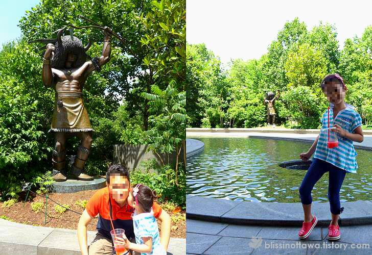 아메리카 인디언 동상 입니다