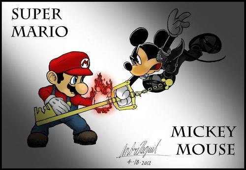 슈퍼마리오 vs 미키마우스 super mario vs Mickey mouse