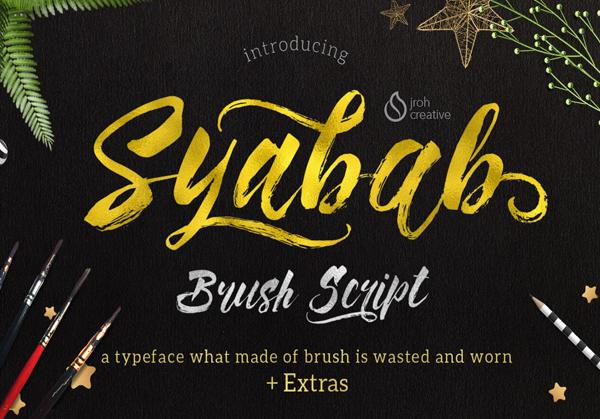 Syabab – Free Brush Font