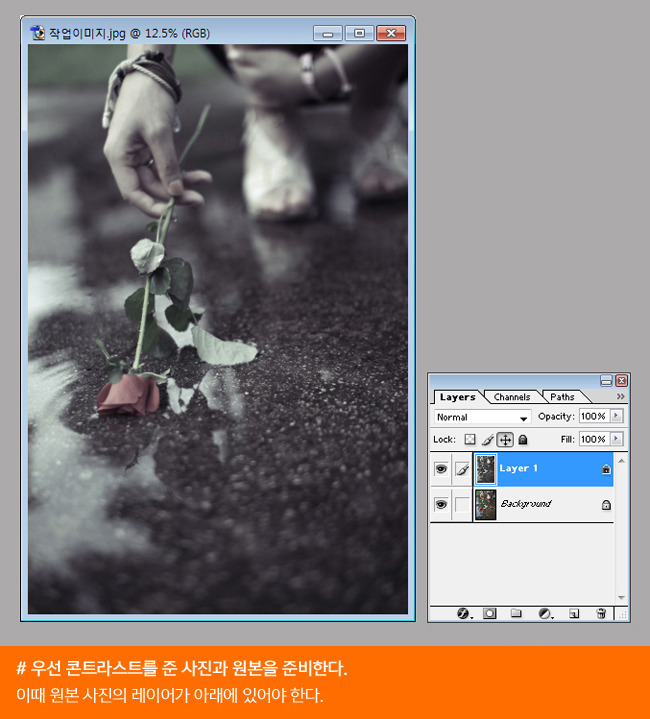 윤디자인연구소, 윤디자인, 한선주, 사진, 사진 보정, 보정방법, 흑백사진, 포토샵, 빈티지한 사진, 흑백사진 보정, 컬러사진, 색 추출, 컬러사진을 흑백으로 바꾸는 방법, 포토샵 강좌, 채도 조절, 콘트라스트, curves 옵션, 컬러 추출,