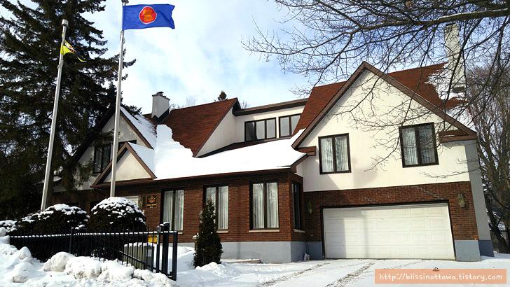 캐나다 부자 동네 브루나이 대사관저