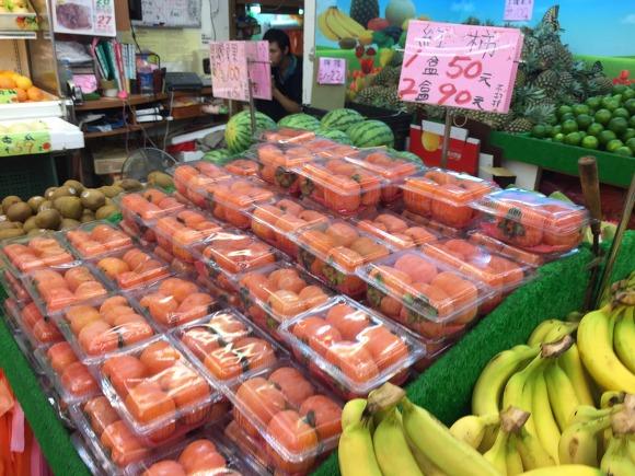 45. 대만 타이베이 과일가게 홍시