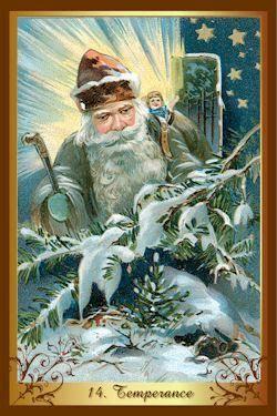 Christmas Tarot 14 Temperance