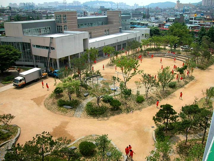 부천소명여자고등학교 야외숲