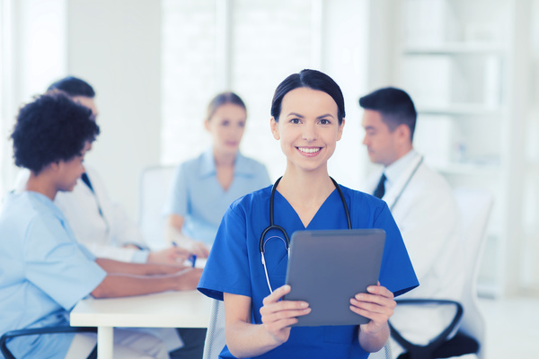 Free Stock Photo JPG file Group of happy doctors at hospital Stock Photo 04